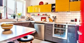 Bright colours to light up your kitchen