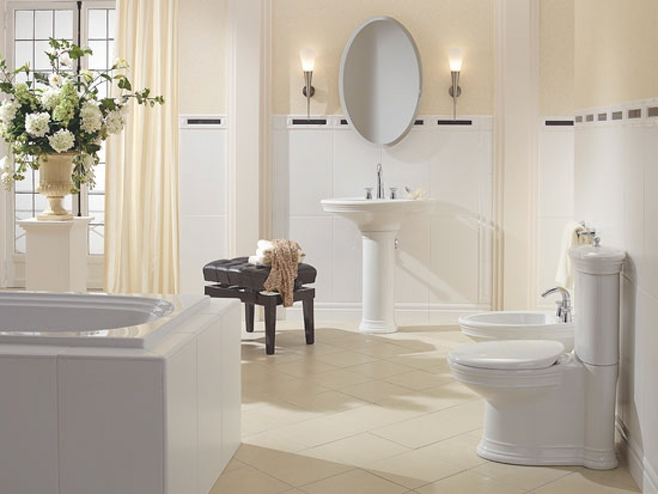 Elegant bathrooms uk house decor ideas Decorating ideas for bathrooms on a budget